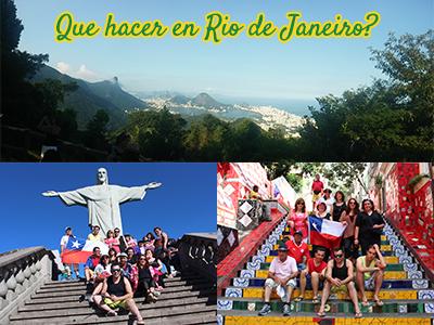 Foto del mirante de la Vista Chinesa, familia chilena en Cristo Redentor y Familia Chilena en Escalera de Selaron